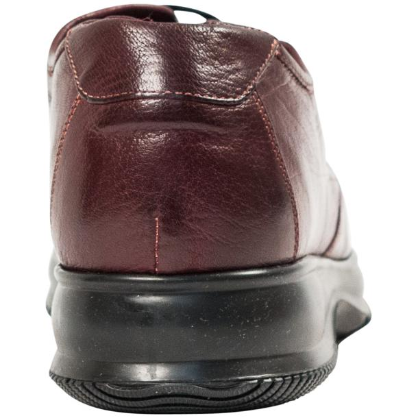 Fredo Oxblood Red Nappa Leather Thick Rubber Sole Sneakers  thumb #5