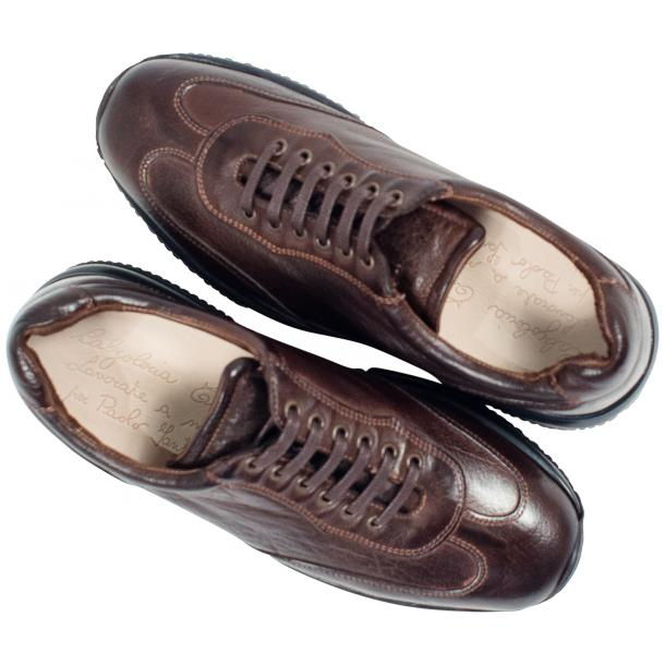 Misha Brown Nappa Leather Rubber Sole Sneaker Shoes full-size #2