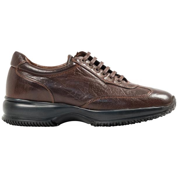 Misha Brown Nappa Leather Rubber Sole Sneaker Shoes full-size #4