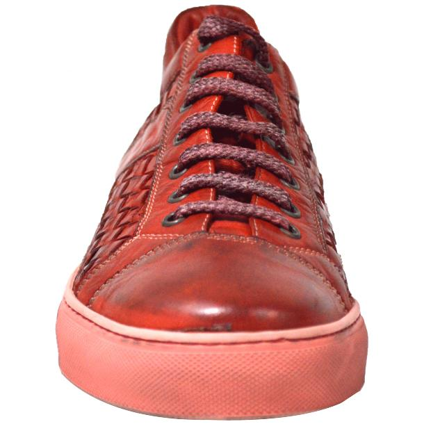 Tyler Dip Dyed Red Woven Sneakers Tan thumb #2