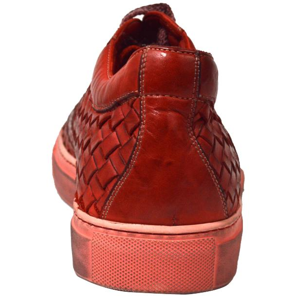 Tyler Dip Dyed Red Woven Sneakers Tan thumb #4