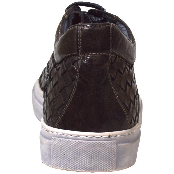 Tyler Dip Dyed Stone Grey Woven Sneakers Tan thumb #4
