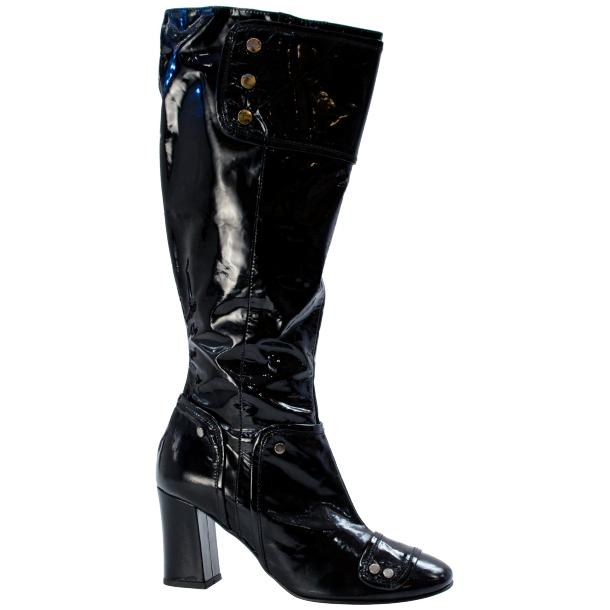 Pamela Patent Leather Rounded Toe Boot Black thumb #3