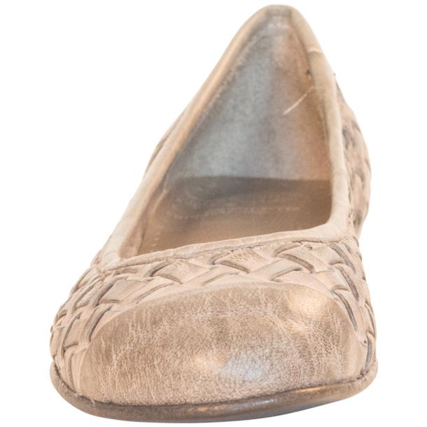 Kate Dip Dyed Cloud Grey Woven Leather Ballerina Flats thumb #3