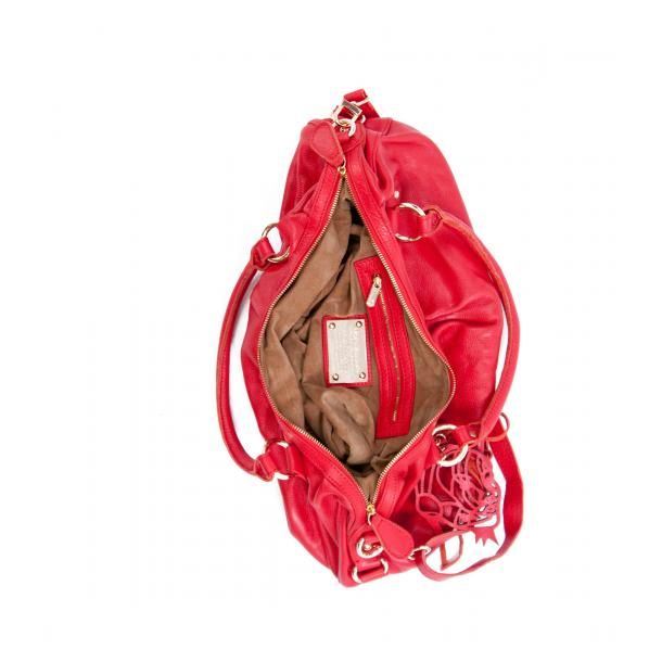 Marina Red Handle and Shoulder Bag thumb #4