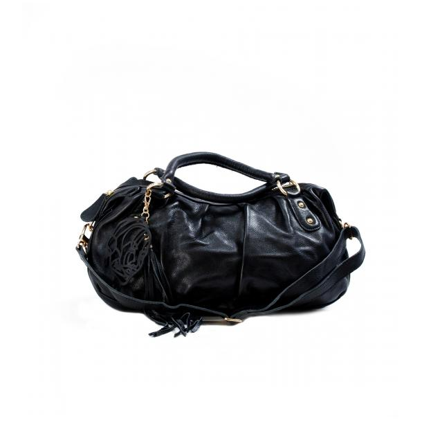 Marina Black Handle and Shoulder Bag full-size #1