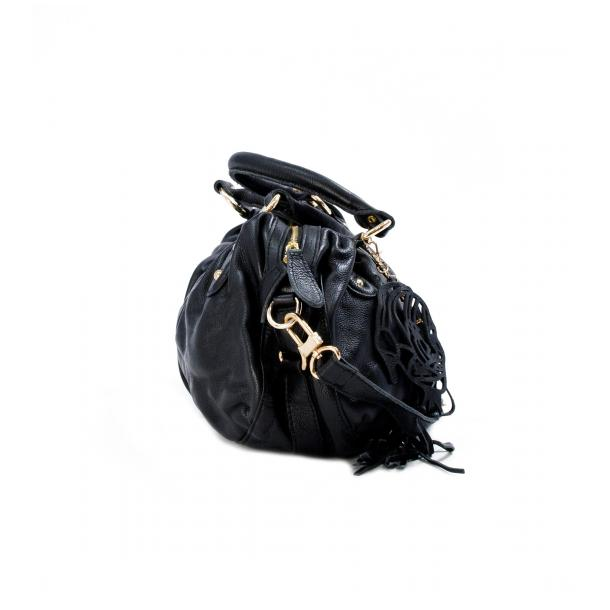 Marina Black Handle and Shoulder Bag thumb #3