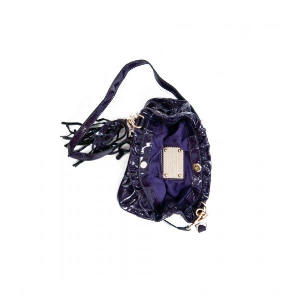 Golden Gate Park Purple Patent Leather Handle and Shoulder Bag thumb #4