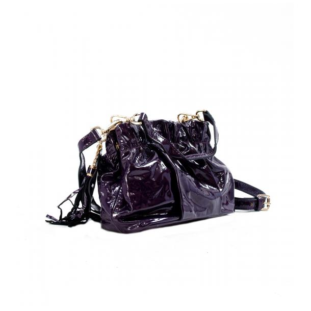 Golden Gate Park Purple Patent Leather Handle and Shoulder Bag thumb #2