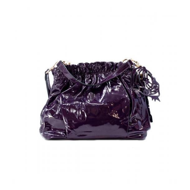 In The Mission Purple Patent Leather Shoulder Bag full-size #1