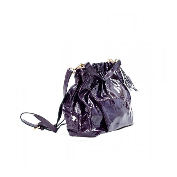 In The Mission Purple Patent Leather Shoulder Bag thumb #4