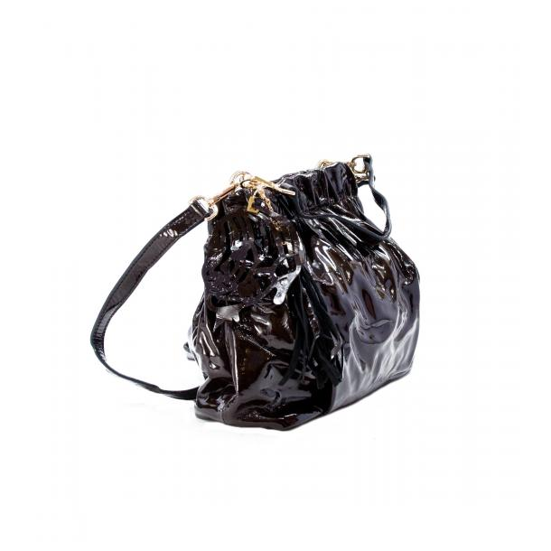 In The Mission Brown Patent Leather Shoulder Bag thumb #4