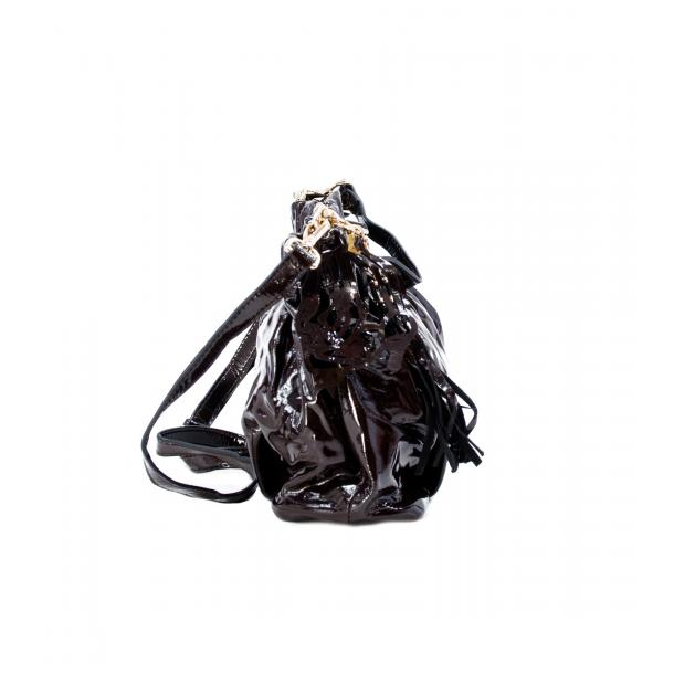 In The Mission Brown Patent Leather Shoulder Bag thumb #2