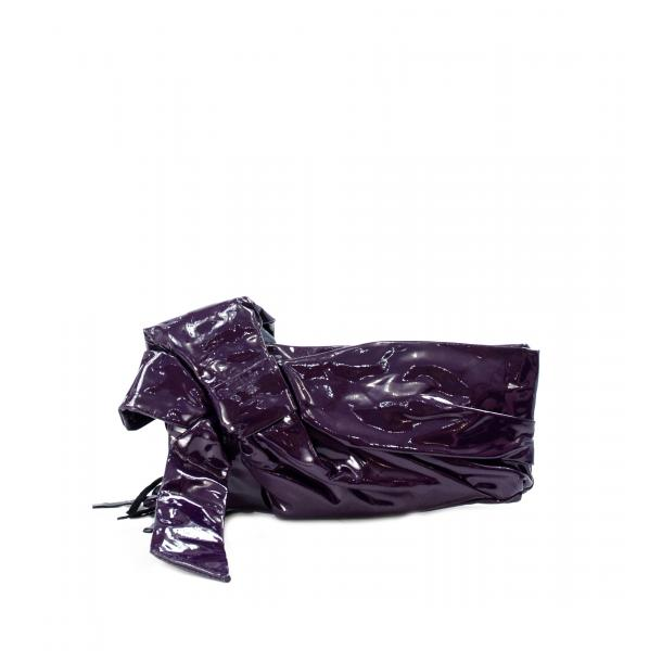 Haight-Ashbury Purple Patent Leather Clutch full-size #1