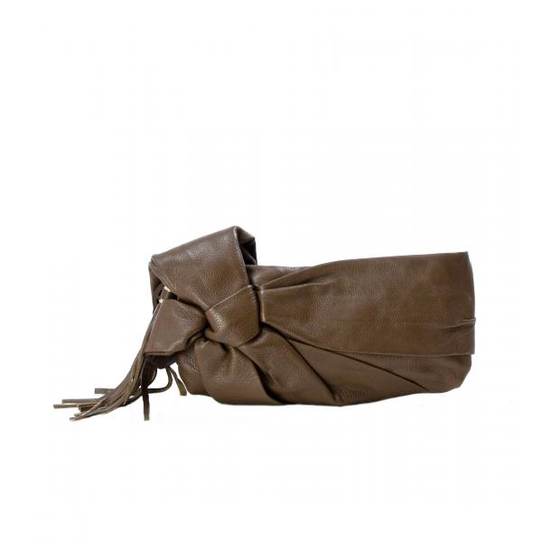 Haight-Ashbury Khaki Clutch full-size #1