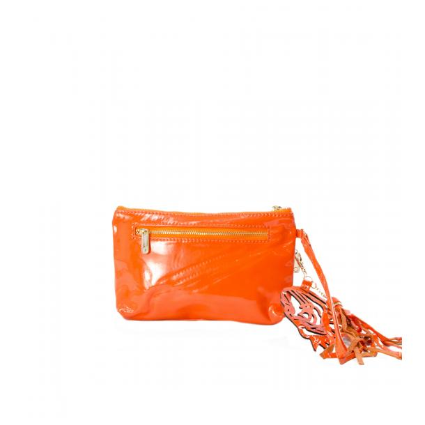 SOMA Patent Orange Clutch thumb #2