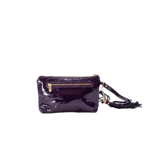 SOMA Patent Purple Clutch full-size #2