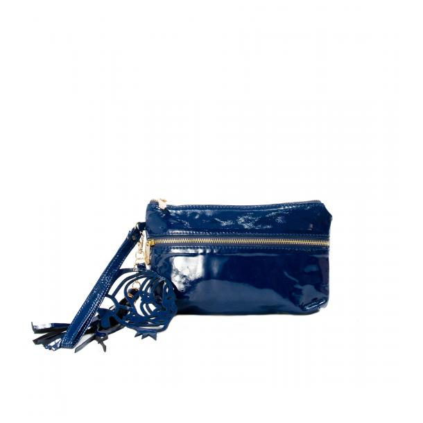 SOMA Patent Blue Clutch full-size #1