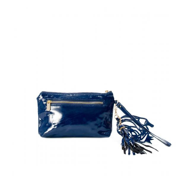 SOMA Patent Blue Clutch thumb #2