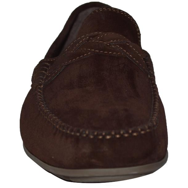Dino Chocolate Brown Suede Driver Loafers  thumb #2
