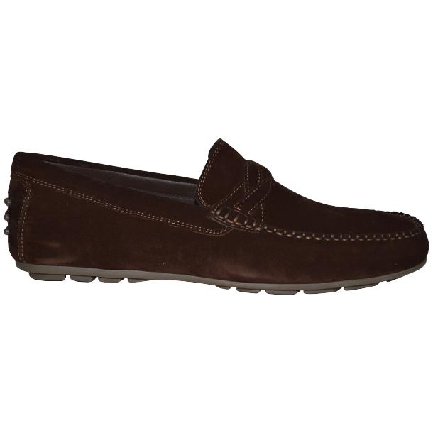 Dino Chocolate Brown Suede Driver Loafers  thumb #3
