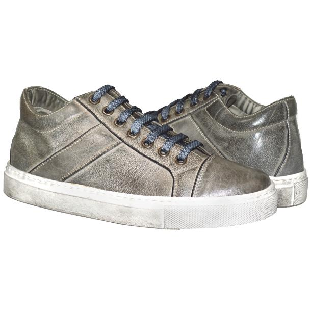 Liza Dip Dyed Cloud Grey Low Top Sneakers  thumb #1