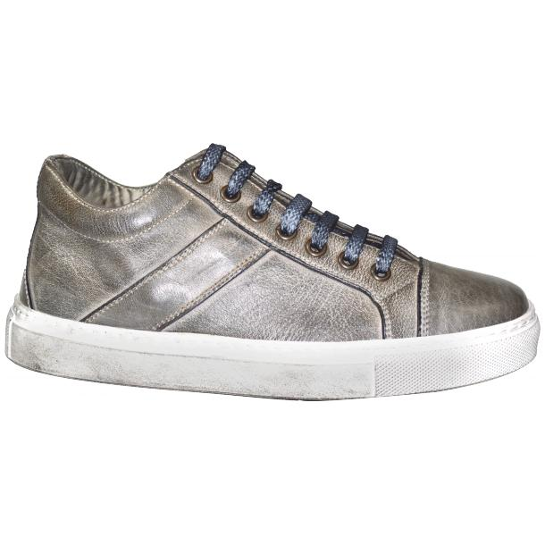Liza Dip Dyed Cloud Grey Low Top Sneakers  thumb #3