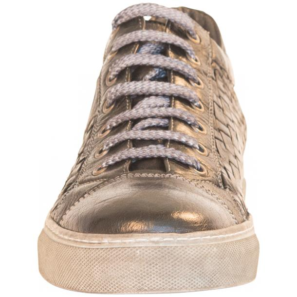 Carlo Dip Dyed Black Smoke Woven Sneakers Tan thumb #3