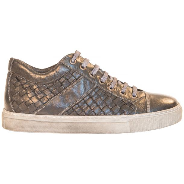 Carlo Dip Dyed Black Smoke Woven Sneakers Tan thumb #4