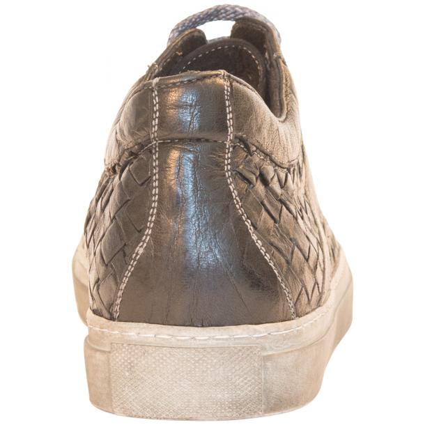 Carlo Dip Dyed Black Smoke Woven Sneakers Tan thumb #5