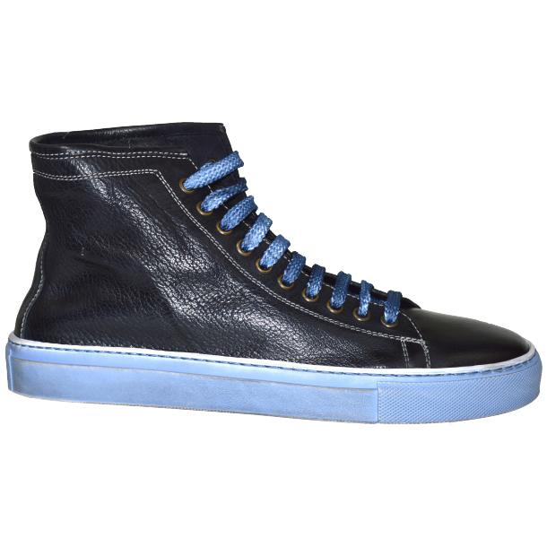 Alara Dip Dyed Denim Blue High Top Sneaker  thumb #3