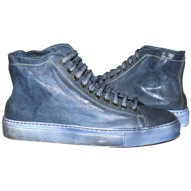 Alara Dip Dyed Denim Blue High Top Sneaker  full-size #1