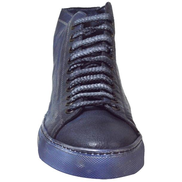 Alara Dip Dyed Denim Blue High Top Sneaker  thumb #2