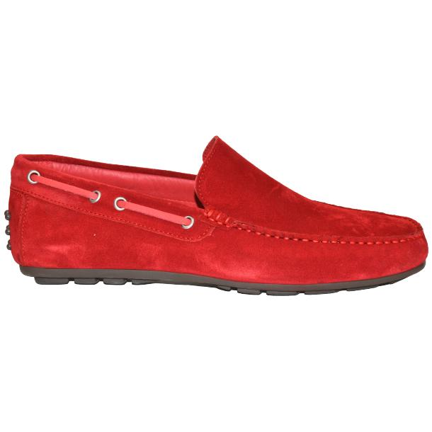 Carlito Red Suede Driver Loafers  thumb #3