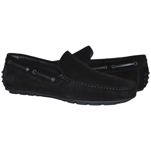 Carlito Black Suede Driver Loafers  thumb #1