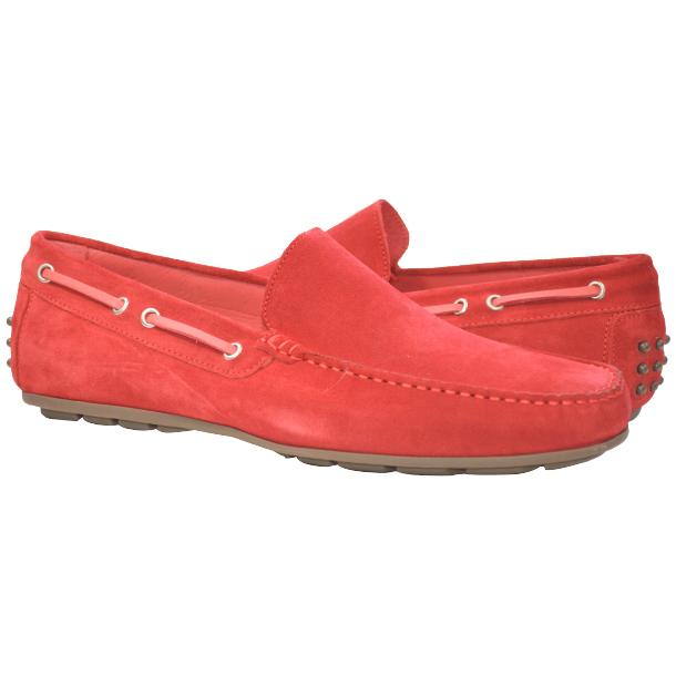 Carlito Red Suede Driver Loafers  full-size #1