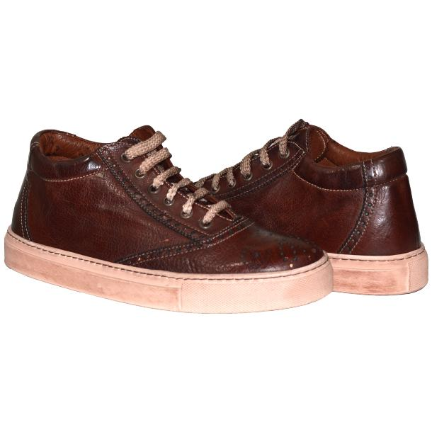 Victoria Dip Dyed Brown Low Top Sneakers  full-size #1