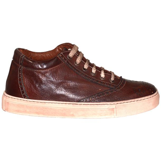 Victoria Dip Dyed Brown Low Top Sneakers  thumb #3