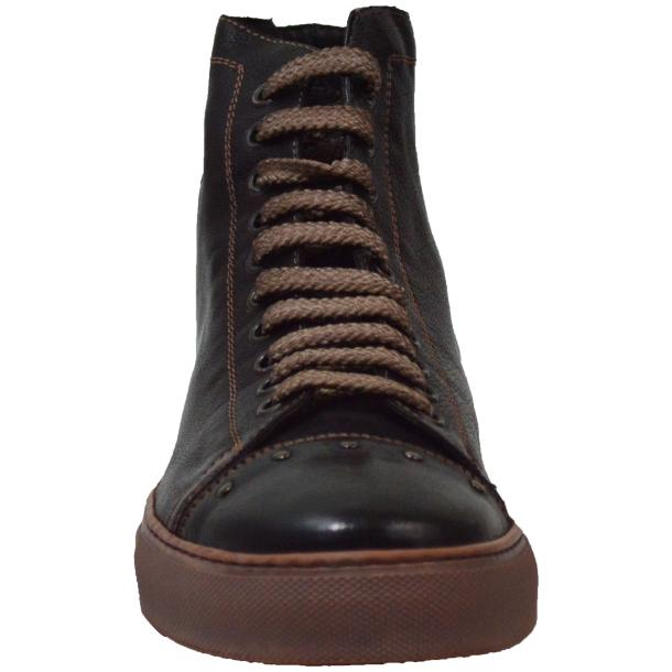 San Siro Dip Dyed Dark Brown High Top Sneaker thumb #3
