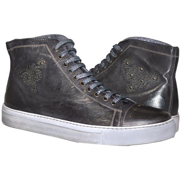 San Siro Dip Dyed Stone Grey High Top Sneaker full-size #1