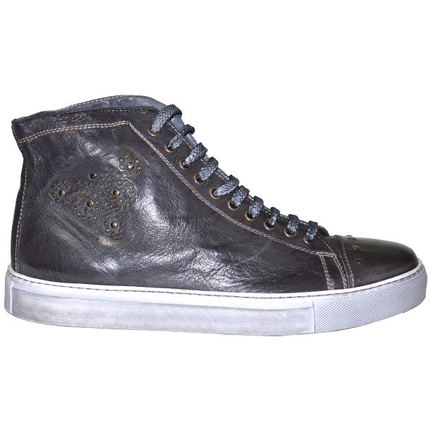 San Siro Dip Dyed Stone Grey High Top Sneaker full-size #3