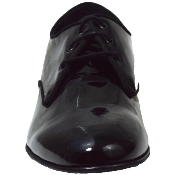 Dakota Dip Dyed Black Leather Oxford Lace Up Shoes thumb #2