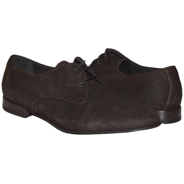Dakota Dip Dyed Dark Brown Suede Oxford Shoes full-size #1