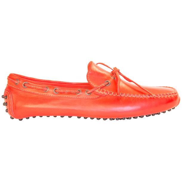 Adam Dip Dyed Fire Red Nappa Leather Drivers thumb #4