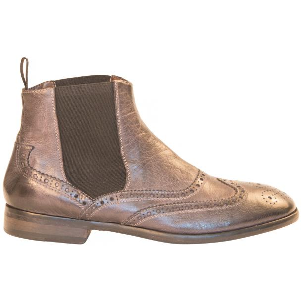 Cameron Dip Dyed Grey Nappa Leather Wingtip Chelsea Boots thumb #4
