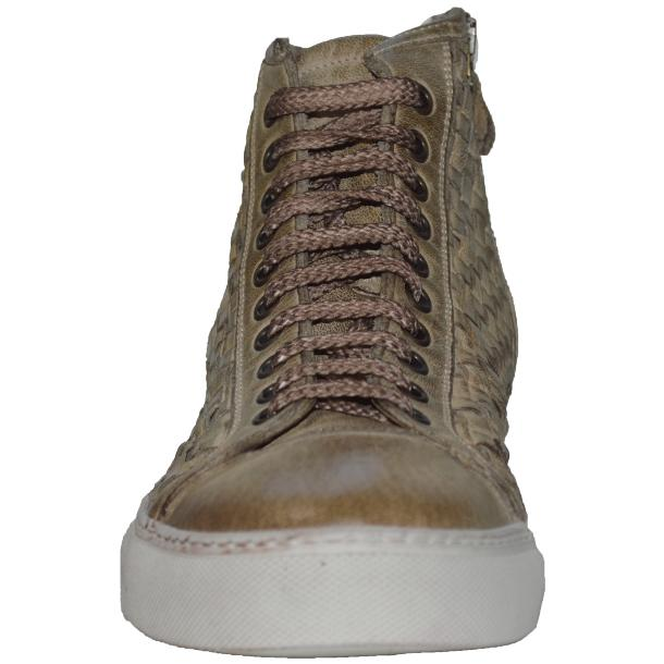 Gavin Dip Dyed Rope Beige Hand Woven High Top Sneakers thumb #2