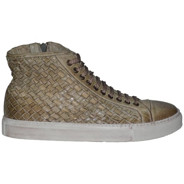 Gavin Dip Dyed Rope Beige Hand Woven High Top Sneakers thumb #3
