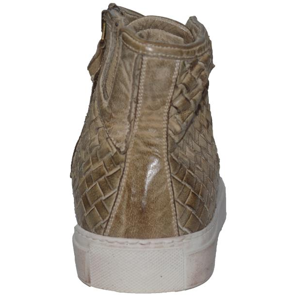 Gavin Dip Dyed Rope Beige Hand Woven High Top Sneakers thumb #4