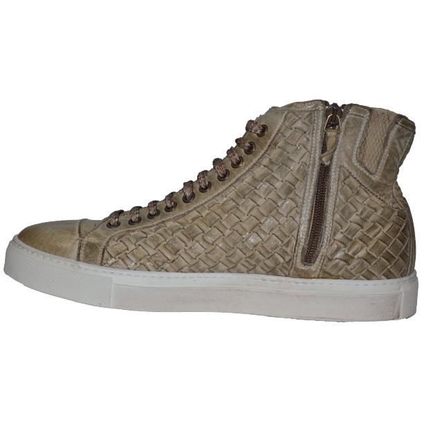Gavin Dip Dyed Rope Beige Hand Woven High Top Sneakers thumb #5