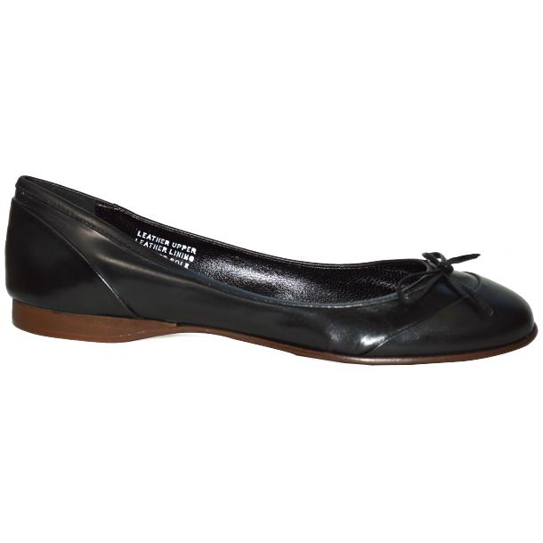 Amelia Dip Dyed Black Nappa Leather Ballerina Flat thumb #3